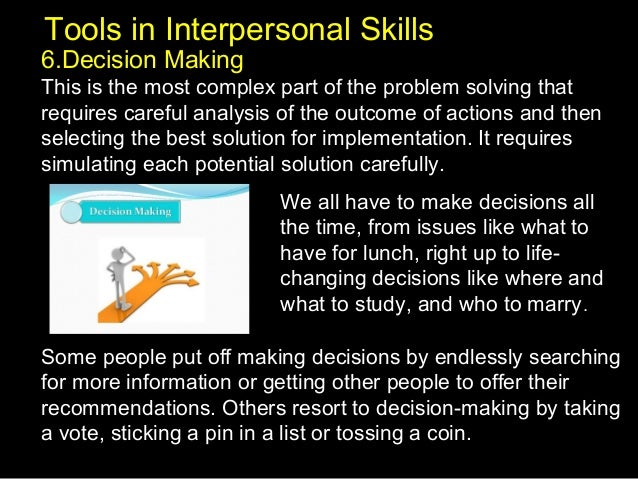 Solving interpersonal communication problems