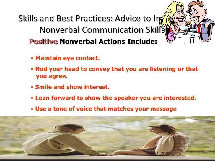 nonverbal listening patterns Listening skills and nonverbal communications in the workplace by pau_malabanan in browse personal growth psychology.