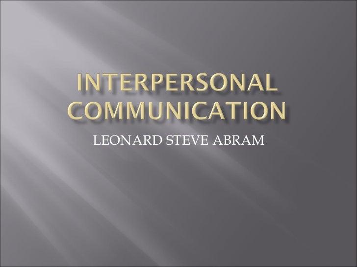 LEONARD STEVE ABRAM