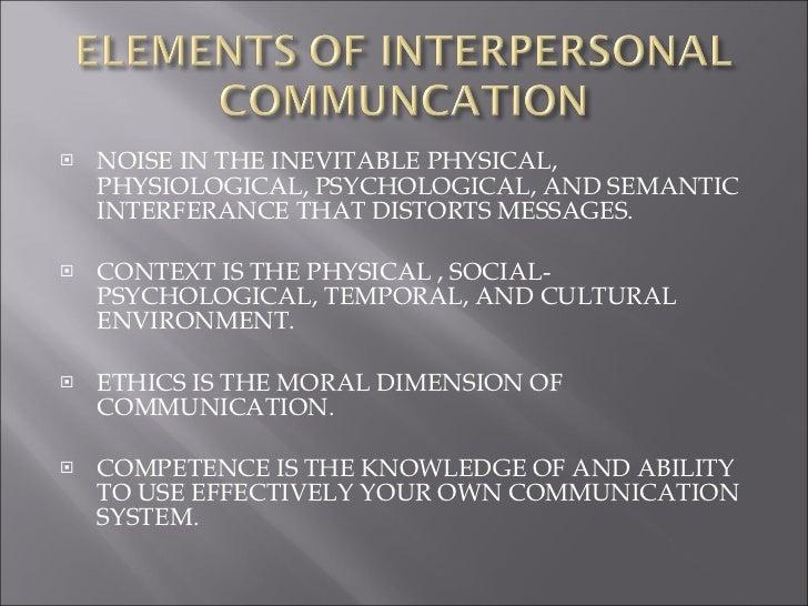 interpersonal communication system