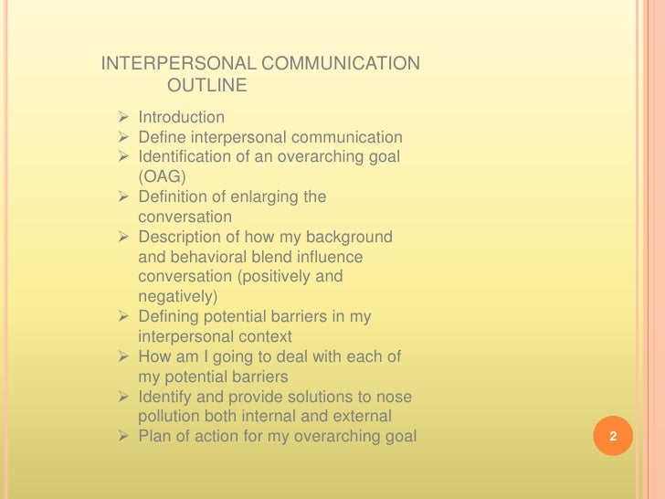 interpersonal communication interpersonal communication