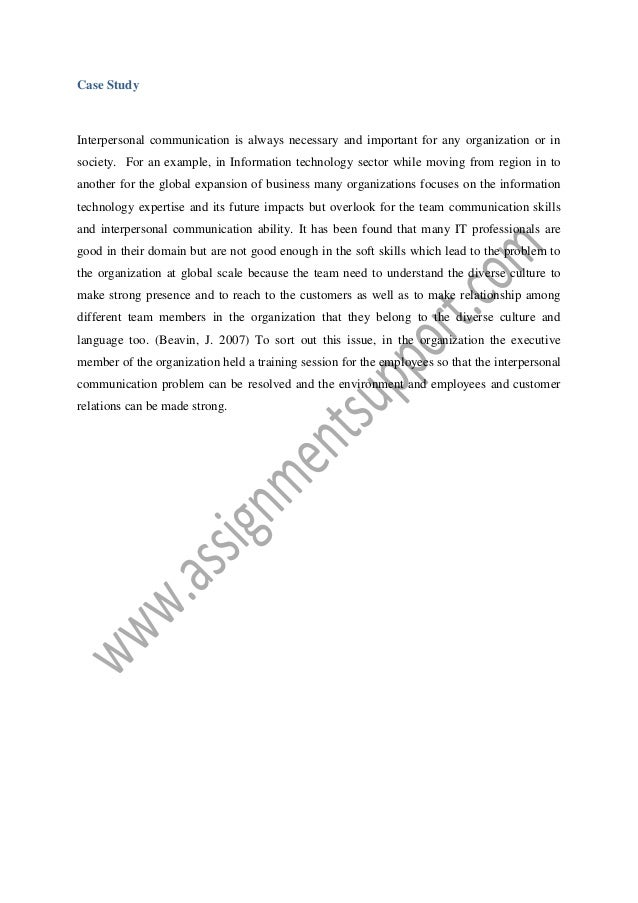 Interpersonal communication essays