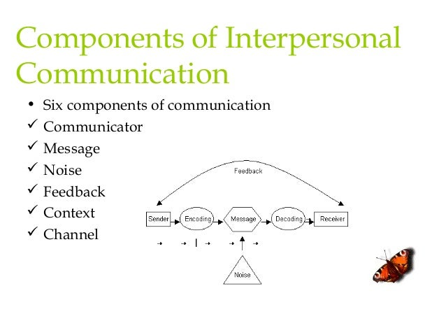 interpersonal communication consists of which of the following components