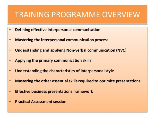 interpersonal skill definition