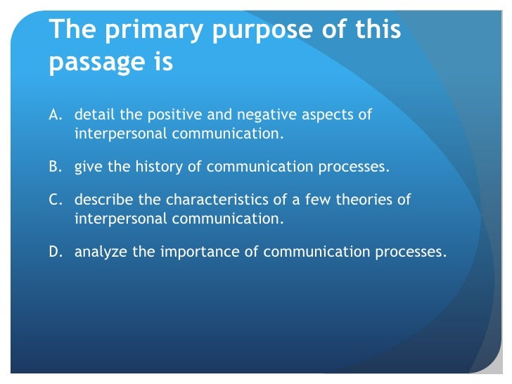 five purposes in interpersonal communication 2007-04-11  what are the 5 characteristics of communication  purposes of communication  another person (in interpersonal communication),.