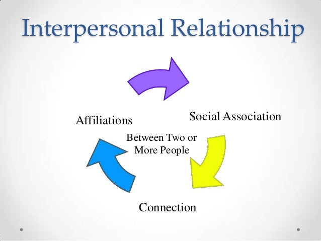 What is meant by interpersonal relationships
