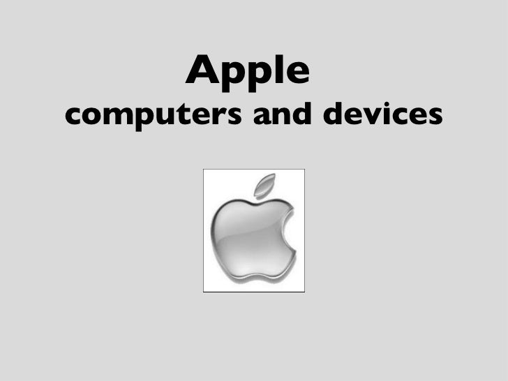 Applecomputers and devices