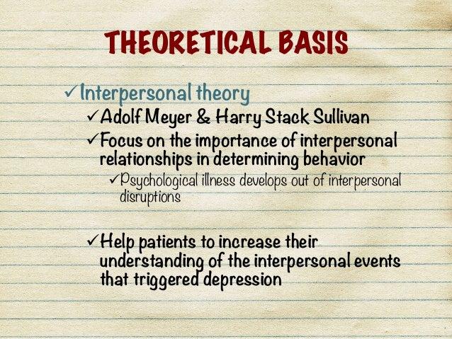 sullivan and interpersonal psychoanalysis Evans iii, fb (1996) harry stack sullivan: interpersonal theory and psychotherapy (1970) psychoanalysis and interpersonal psychiatry: the contributions of harry.