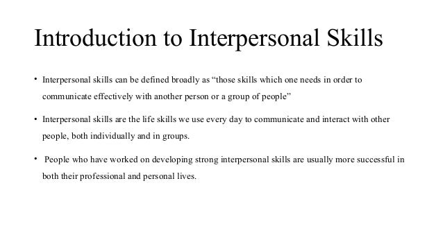 Interpersonal Skills 1 Pptx