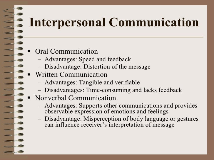 effectively use interpersonal communication in their relationship Intrapersonal and interpersonal communication page 35 participants in the relationship begin to minimize their communication and confine it to mainly.