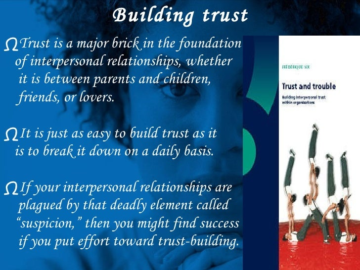 trust in interpersonal Trust as exchange deepener or trust as uncertainty reducer  comprehensive  model of trust mediation in which procedural, interpersonal, and distributive.