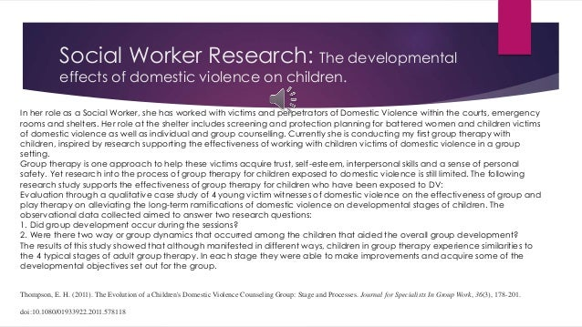Research papers on the effects of domestic violence on children