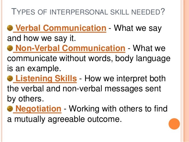 Interpersonal skills- Need and Importance