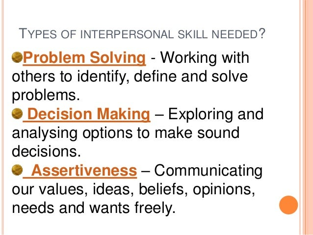 what interpersonal skills