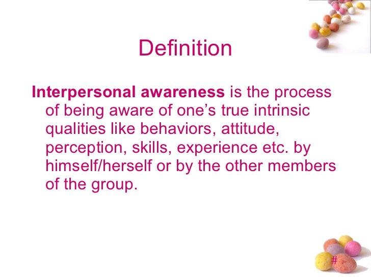 interpersonel awareness and feedback process