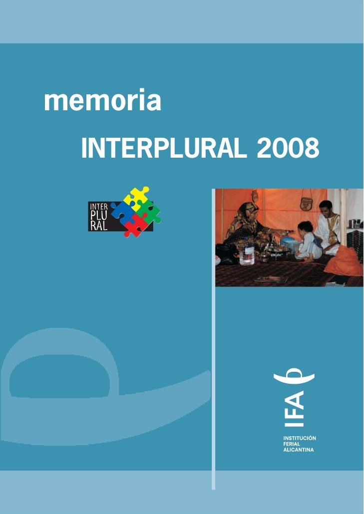 memoria  INTERPLURAL 2008