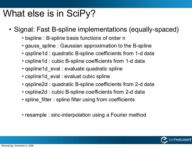 Interpolation with SciPy and NumPy