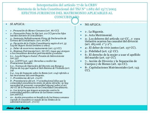 Interpretación del artículo 77 de la CRBV Sentencia de la Sala Constitucional del TSJ N° 1.682 del 15/7/2005 EFECTOS JURID...