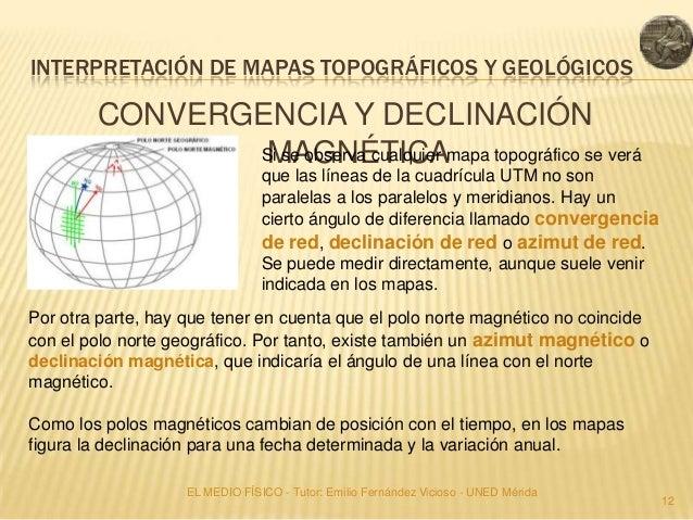 INTERPRETACIÓN DE MAPAS TOPOGRÁFICOS Y GEOLÓGICOS        CONVERGENCIA Y DECLINACIÓN                MAGNÉTICA              ...