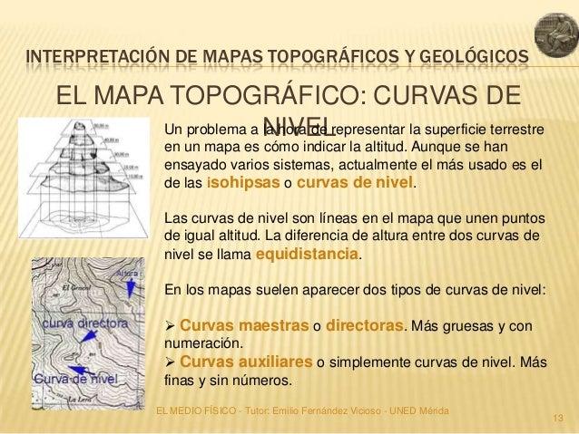 INTERPRETACIÓN DE MAPAS TOPOGRÁFICOS Y GEOLÓGICOS  EL MAPA TOPOGRÁFICO: CURVAS DE         Un problema a NIVEL             ...