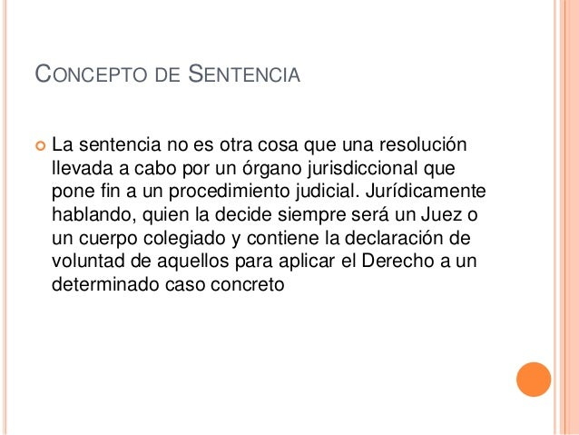 SENTENCIA DEFINICION EBOOK DOWNLOAD