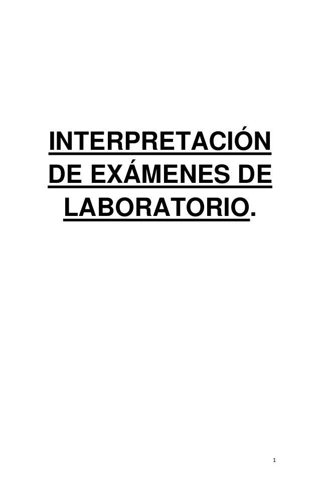 Interpretacion de examenes de laboratorio