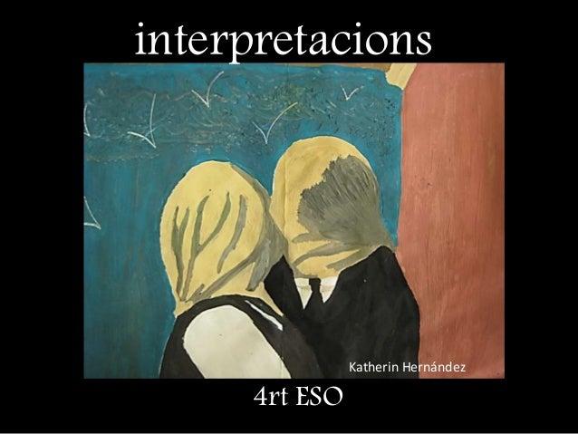 Katherin Hernández interpretacions 4rt ESO