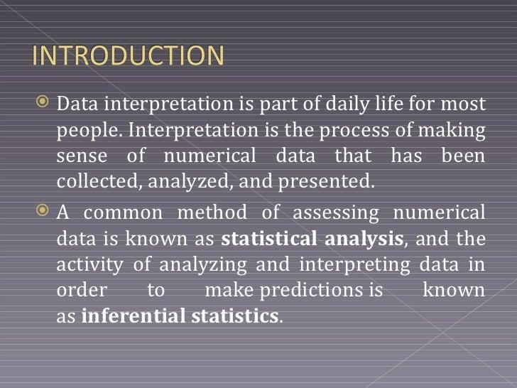 data interpretation and report writing