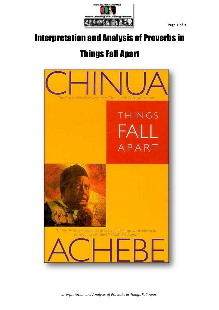 Things fall apart proverbs essay