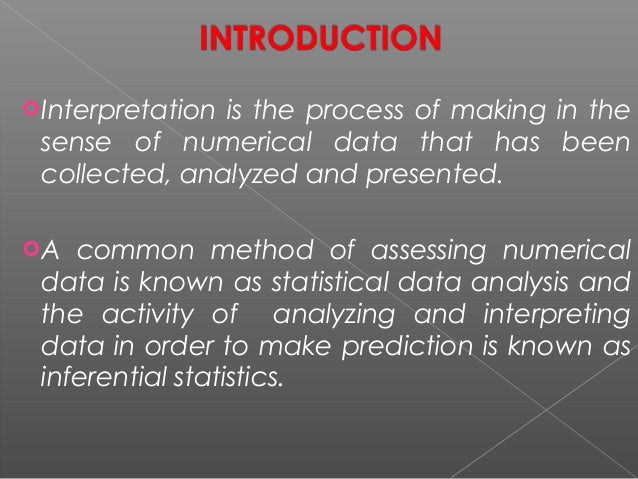 Data interpretation and report writing
