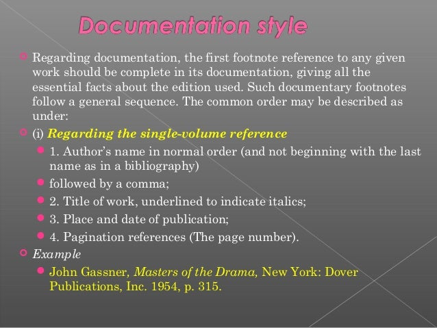 Terms of reference research paper