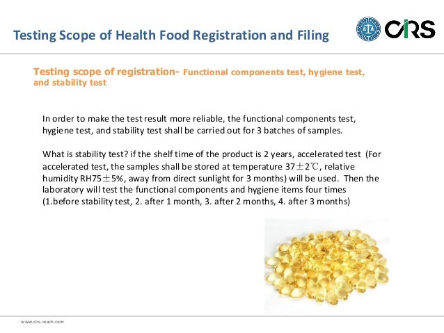 Interpretation of Administrative Measure on Health Food Registration …