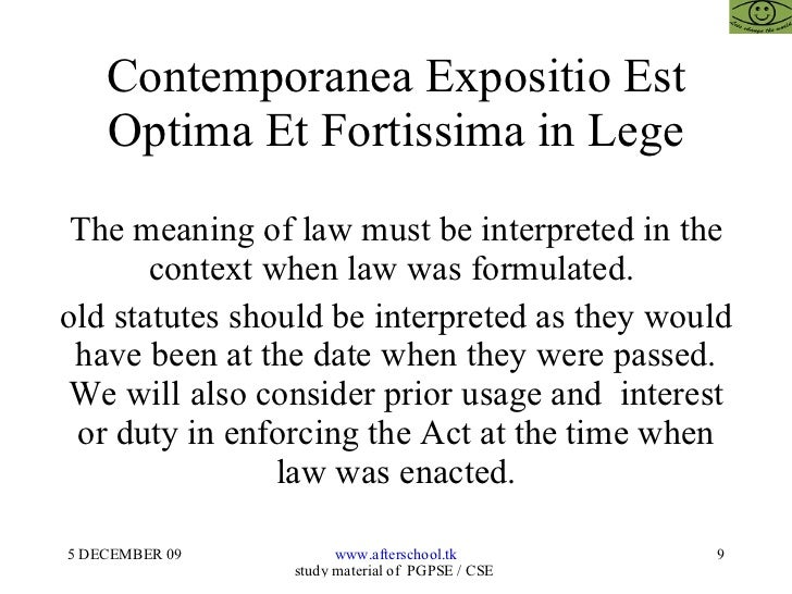 should the interpretation of law be They must be interpreted, suggests that a unified theory of statutory interpre-  legislative supremacy, as a doctrine of statutory interpretation, is.
