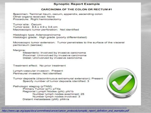 Interpretation Of Pathology Report
