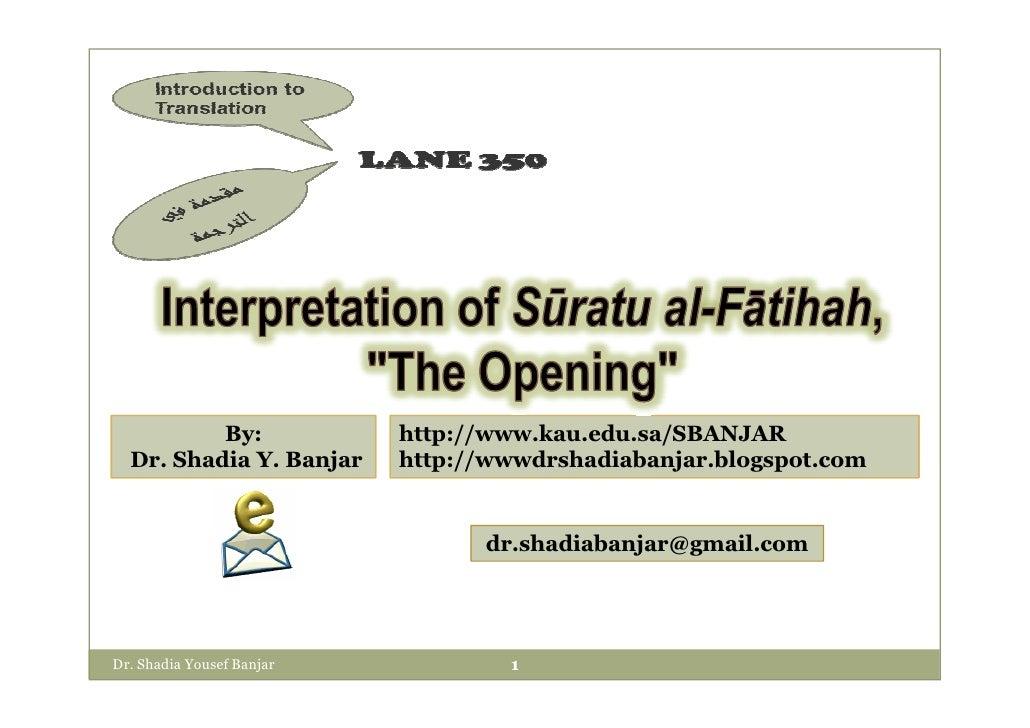 By:              http://www.kau.edu.sa/SBANJAR   Dr. Shadia Y. Banjar     http://wwwdrshadiabanjar.blogspot.com           ...