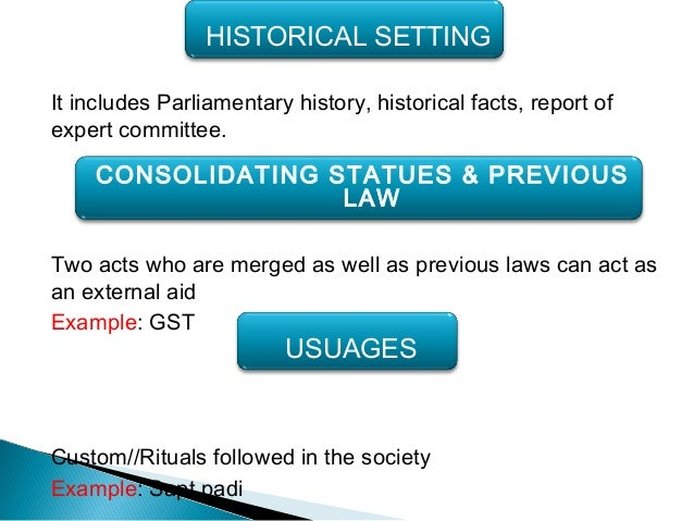 Consolidating statute definitions