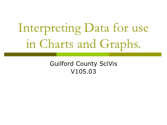 Interpreting Data for use in Charts and Graphs.      Guilford County SciVis             V105.03