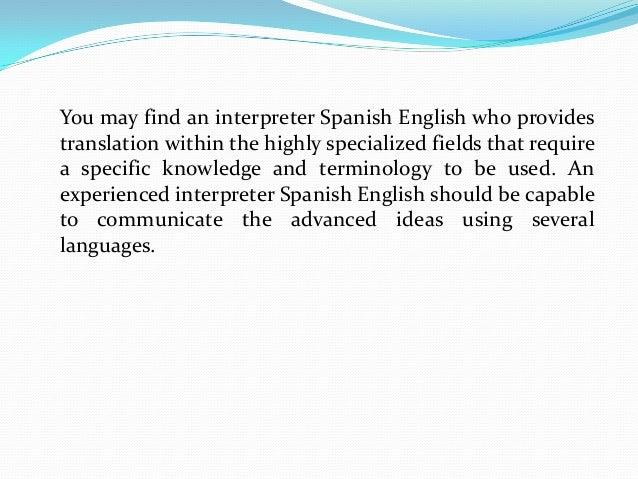 Interpreter spanish english job description