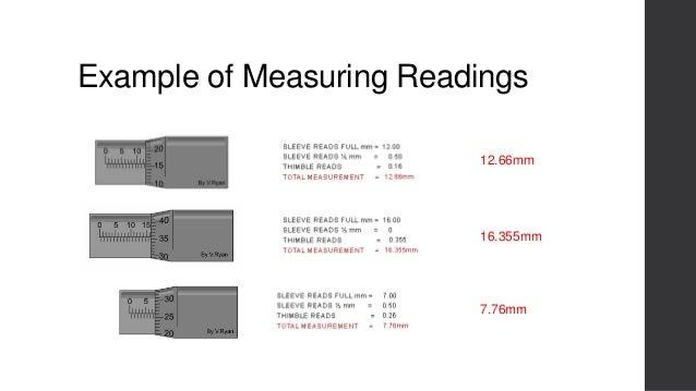 Interpreting engineering micrometer