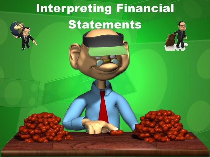 Interpreting Financial Statements
