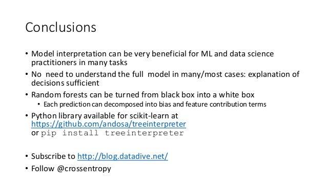 Interpreting machine learning models