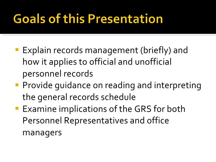 interpreting the personnel general records schedule