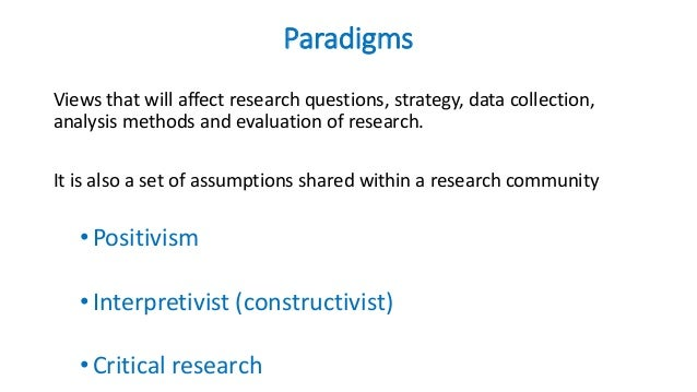 how to write research paradigm