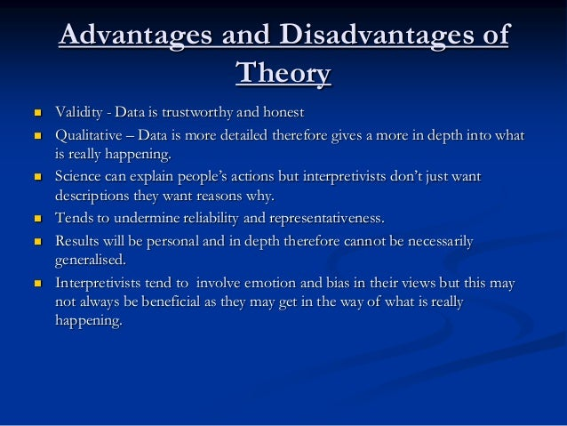 Tok advantages and disadvantages of emotion as a way of