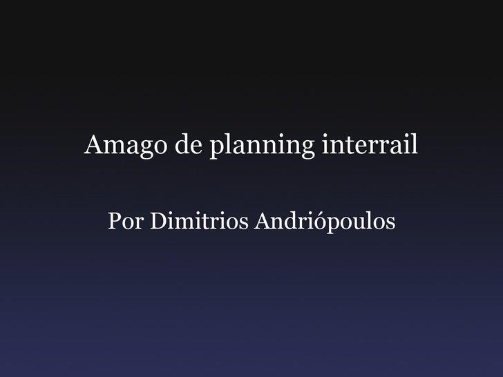 Amago de planning interrail Por Dimitrios Andriópoulos