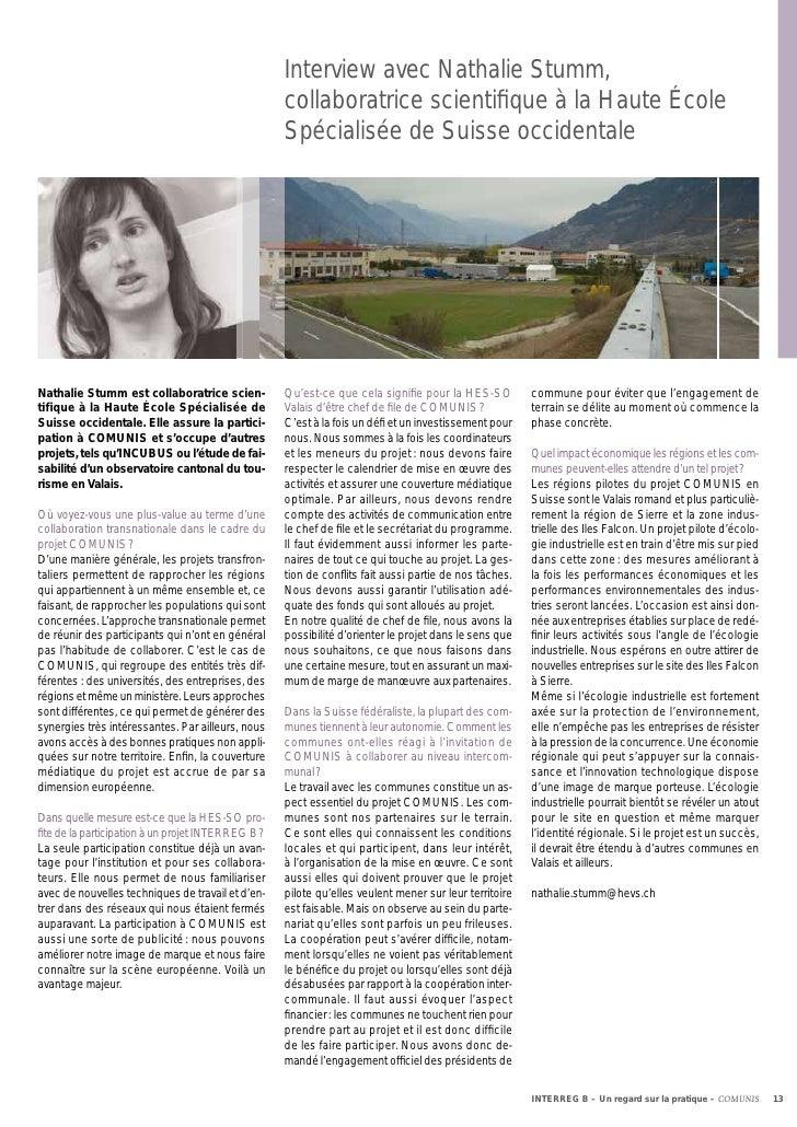Interview avec Nathalie Stumm,                                                   collaboratrice scientifique à la Haute Éco...