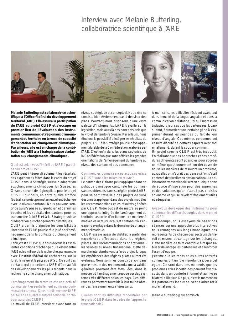 Interview avec Melanie Butterling,                                                       collaboratrice scientifique à l'AR...