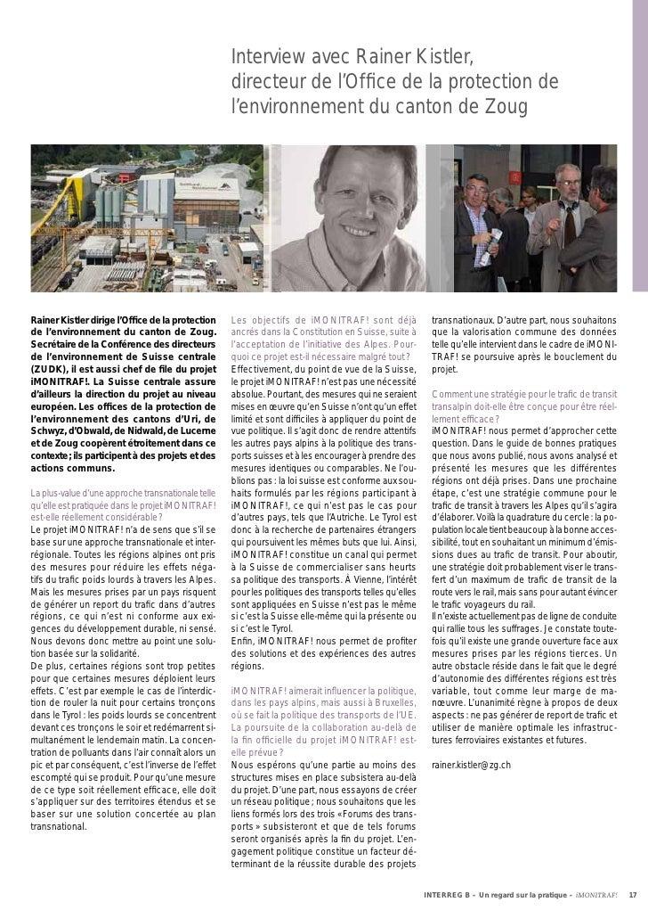 Interview avec Rainer Kistler,                                                    directeur de l'Office de la protection de...