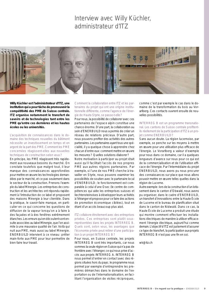 Interview avec Willy Küchler,                                                    administrateur d'ITZWilly Küchler est l'a...