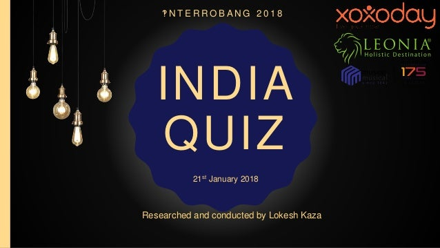 Interrobang India Quiz 2018 Prelims (with answers)